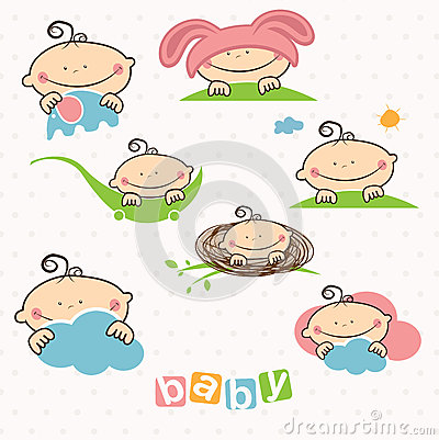 illustration of baby Vector Illustration
