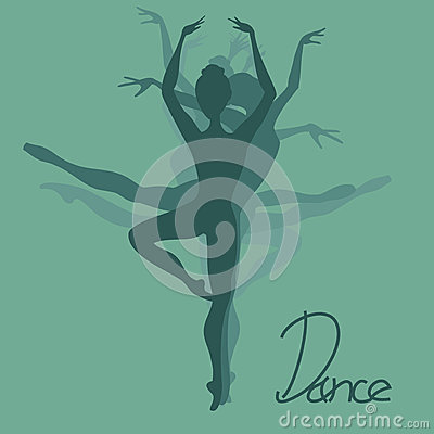 Illustration of ballet dancer