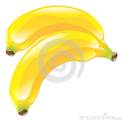 Illustration of banana fruit icon clipart
