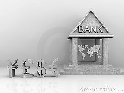 Illustration of banking globally
