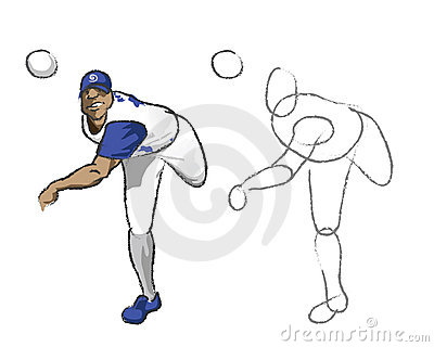 Illustration - Baseball player