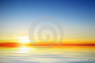 Illustration of a beautiful calm sunset