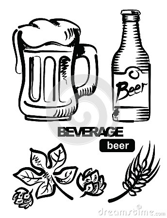 Illustration of beer