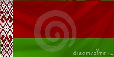 Illustration of Belarus Wavy Flag