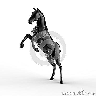 Illustration of a black horse