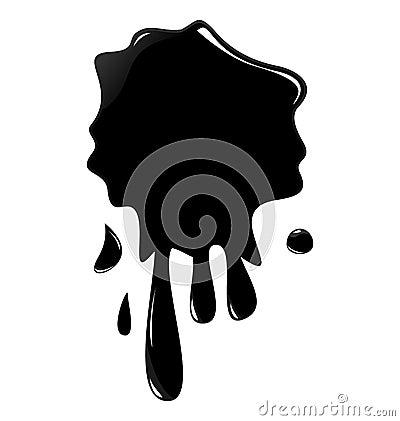 Illustration of black ink splash