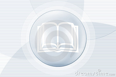 Illustration of book in circle