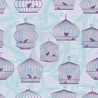 Lonely Bird Seamless Pattern_eps