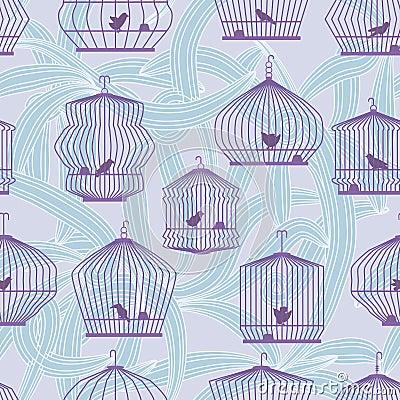 Lonely Bird Seamless Pattern_eps