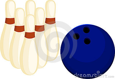 Illustration Bowling ball and pin