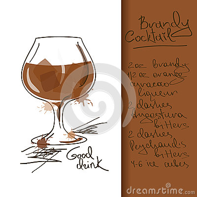 Illustration with Brandy Cocktail