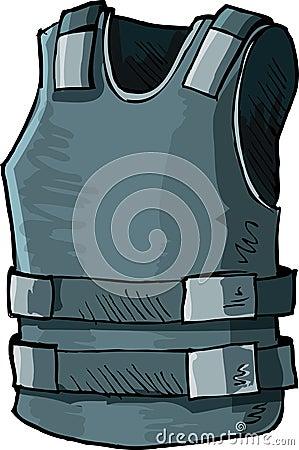 Illustration of bullet proof vest