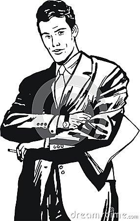 Illustration of a businessman,