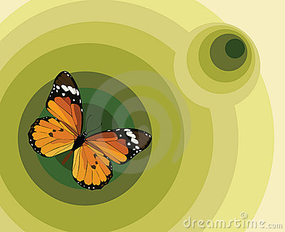 Illustration with a butterfly