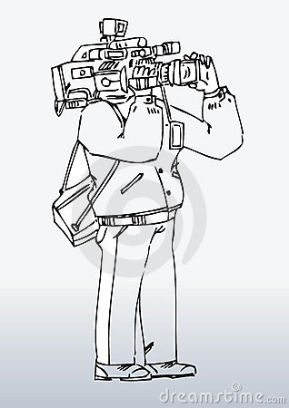Illustration of camera man