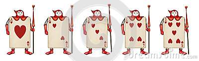 Illustration of Card soldiers Read Hearts from Ali