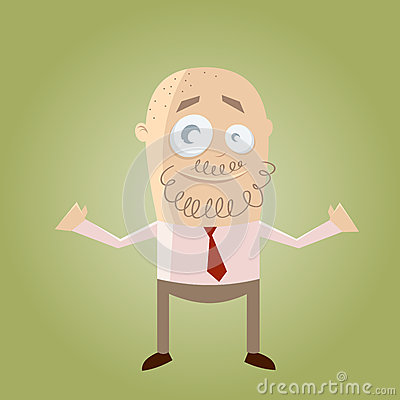 Cartoon businessman with beard