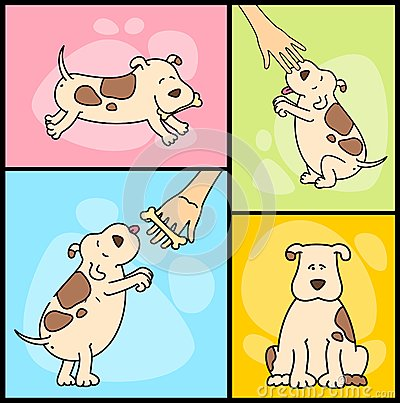 illustration of cartoon dogs