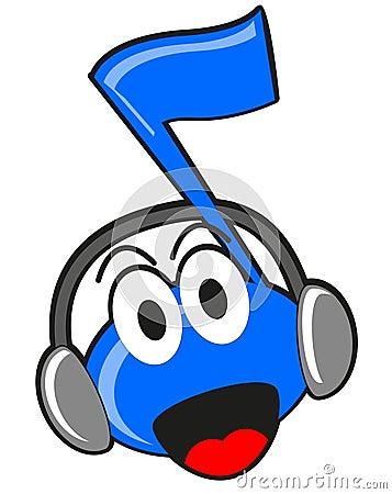 Illustration of cartoon music tone