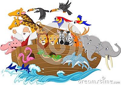 Cartoon Noah`s ark Vector Illustration