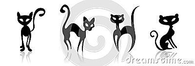 Illustration cats
