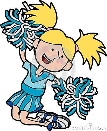 Illustration of cheerleader