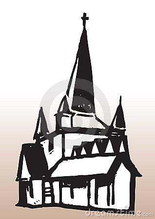 Illustration of church