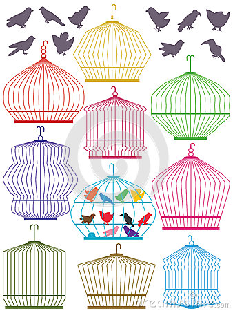 Colorful Birdcage Set_eps