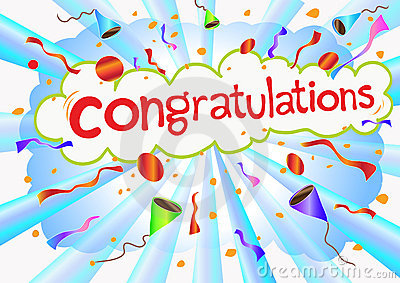 Illustration congratulations wording and celebrati