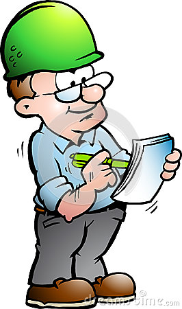 illustration of an Construction Manager