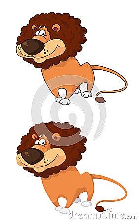 Courageous lion