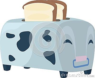 Illustration cow toaster