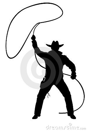 Illustration of cowboy with lasso