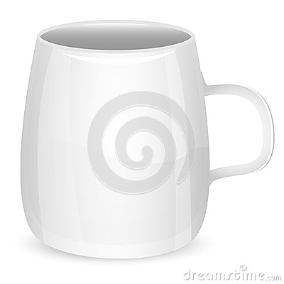 Illustration of cup of white color