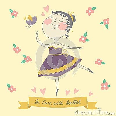 Illustration of cute ballerina
