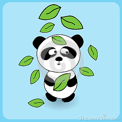 Illustration of cute cartoon panda
