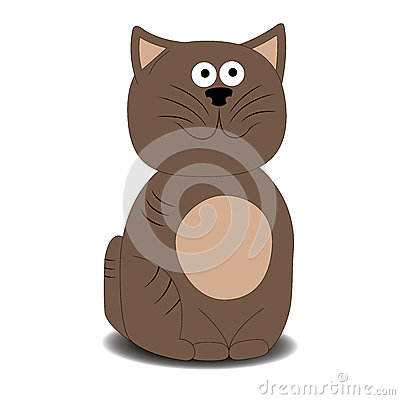 Illustration of very cute kitten