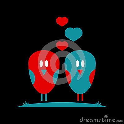 Illustration With Cute Little Birds Royalty Free Stock Image - Image: 28537696