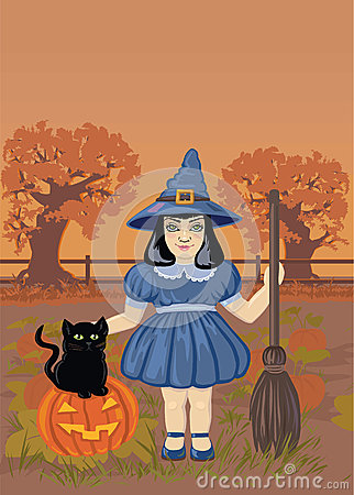 Illustration of a Cute Witch
