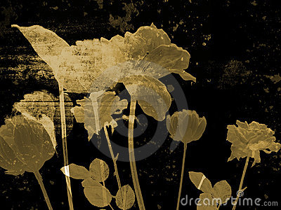 Illustration d beaux-arts - fleur antique