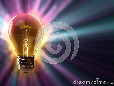 Fond coloré d ampoule