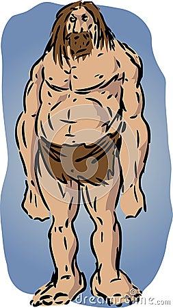 Illustration d homme des cavernes