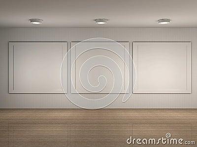 Illustration d intérieur de musée avec des trames