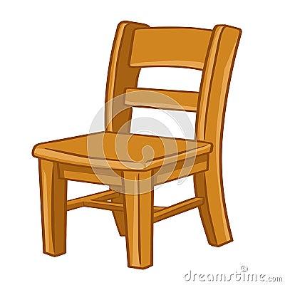 illustration d 39 isolement par chaise en bois photos libres de droits image 32352878. Black Bedroom Furniture Sets. Home Design Ideas