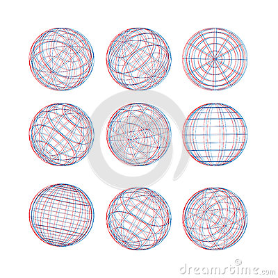Illustration of 3d sphere vector template royalty free for Sphere net template