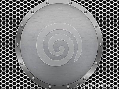 Illustration of dark hexagon metal grill texture Vector Illustration