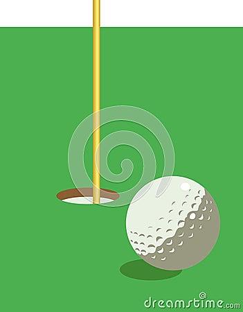 Illustration de golf