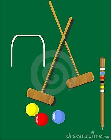Illustration de jeu de croquet