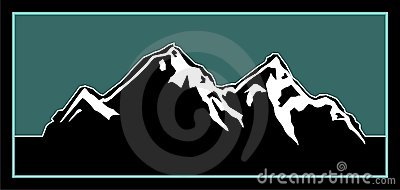 illustration de logo de montagne photos stock image 5742913