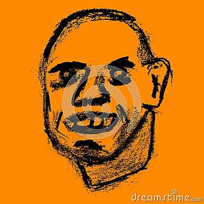 Illustration de sourire heureuse d homme